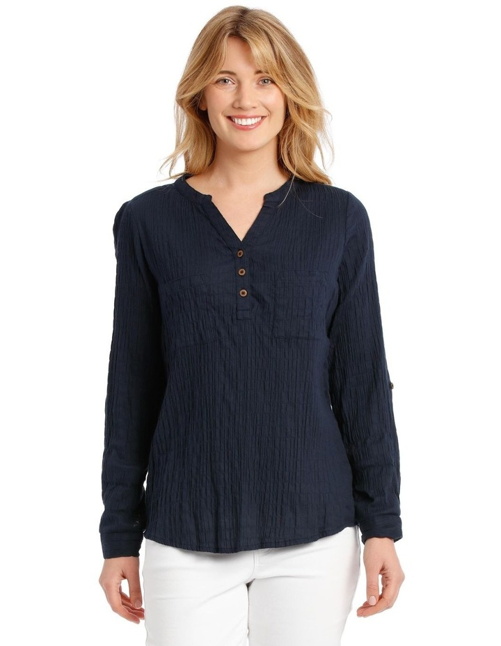 Soft Long Sleeve Shirt With Rolled Sleeve image 1