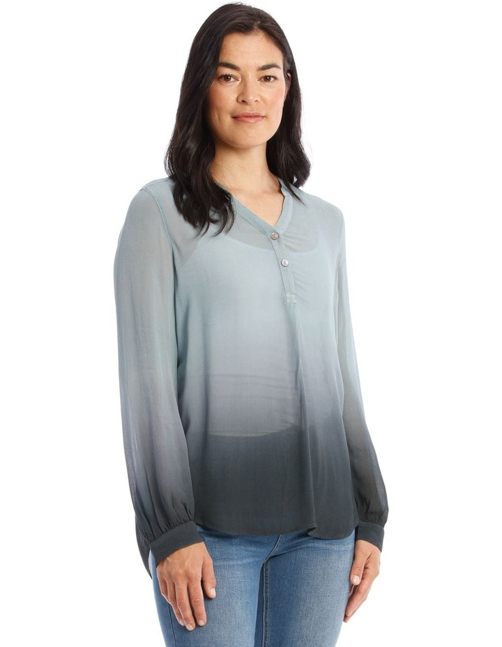 Long Sleeve Sheer Dip Dye Shirt image 2