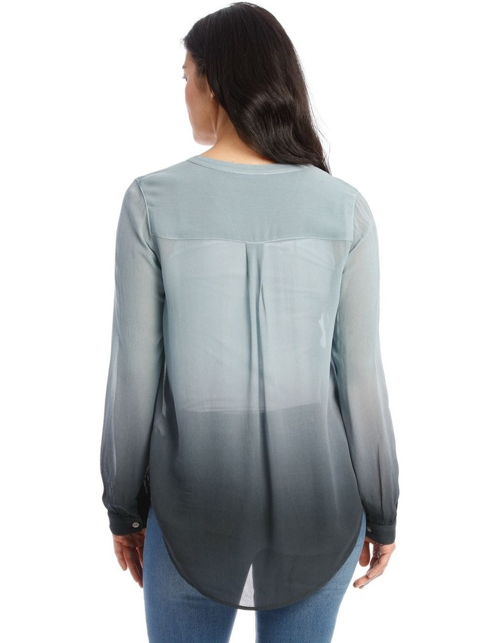 Long Sleeve Sheer Dip Dye Shirt image 3