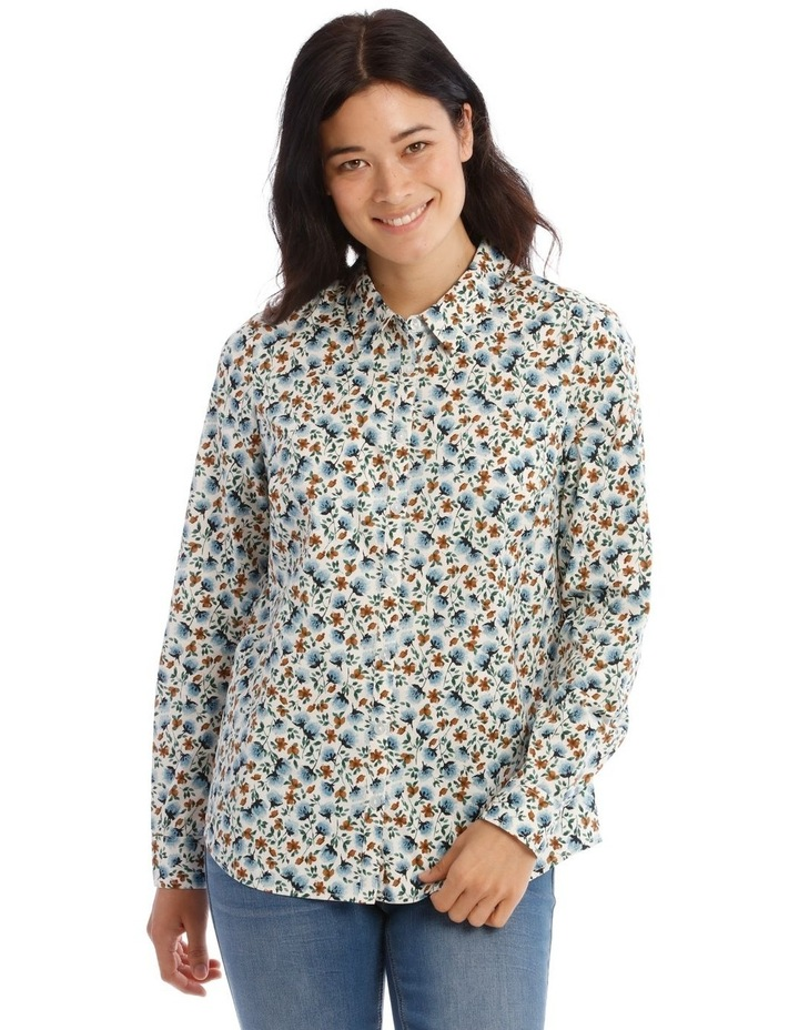 Mottled Marble Stretch Cotton Long Sleeve image 1