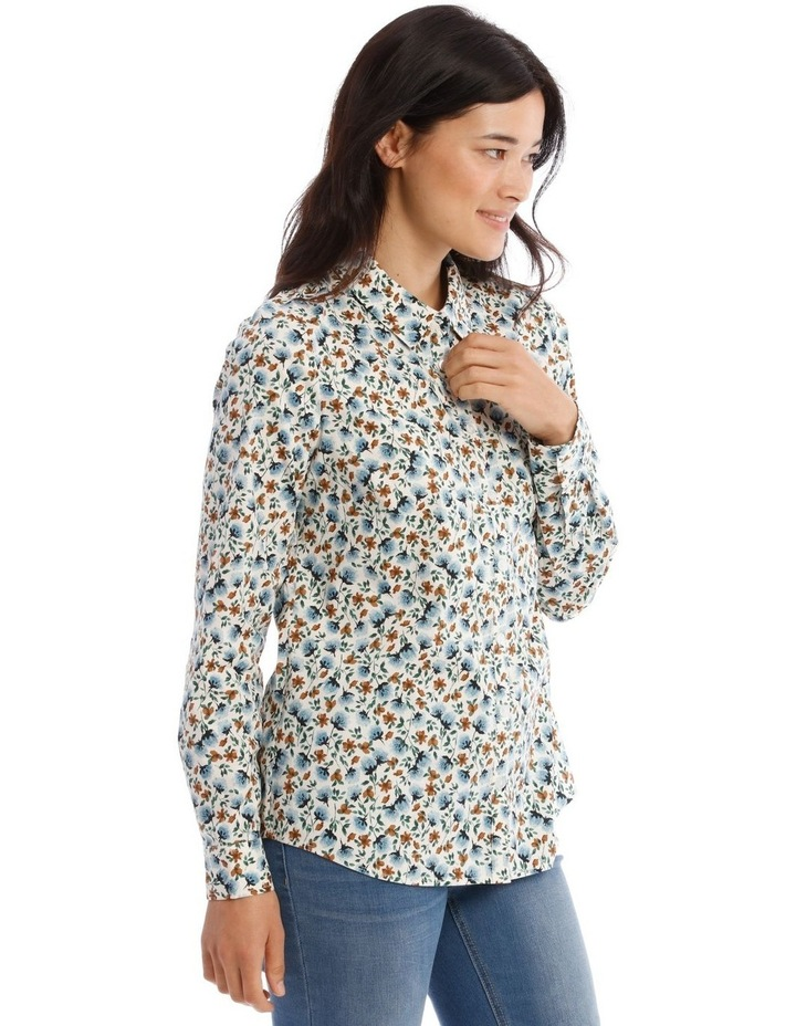 Mottled Marble Stretch Cotton Long Sleeve image 3