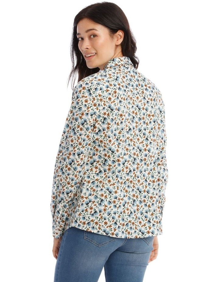 Mottled Marble Stretch Cotton Long Sleeve image 4