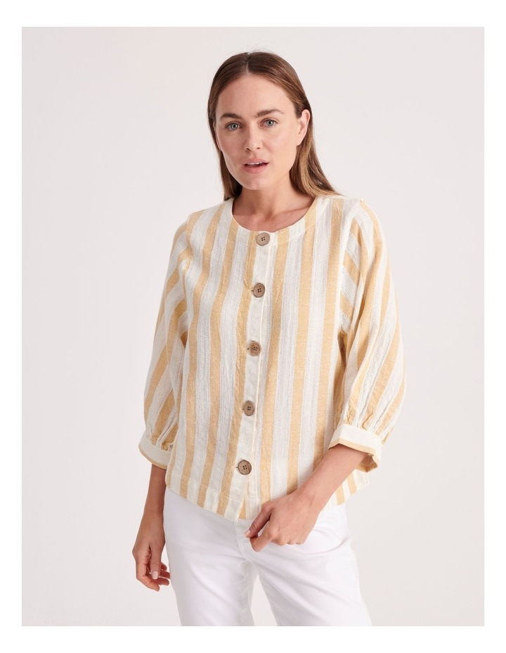 Round Neck Puff Sleeve Shirt image 1