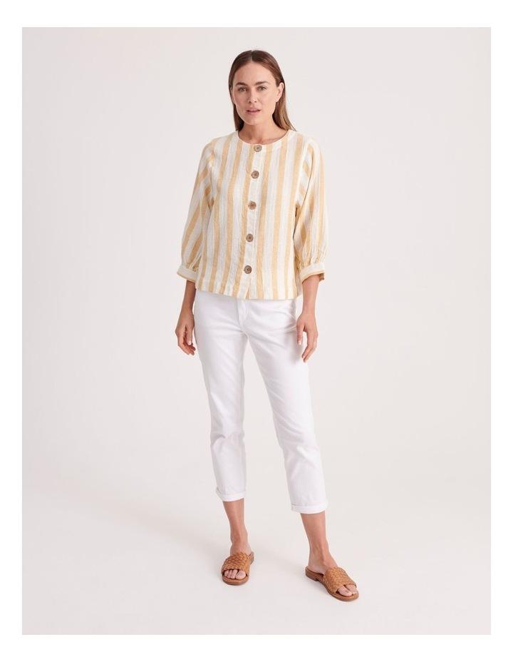 Round Neck Puff Sleeve Shirt image 2
