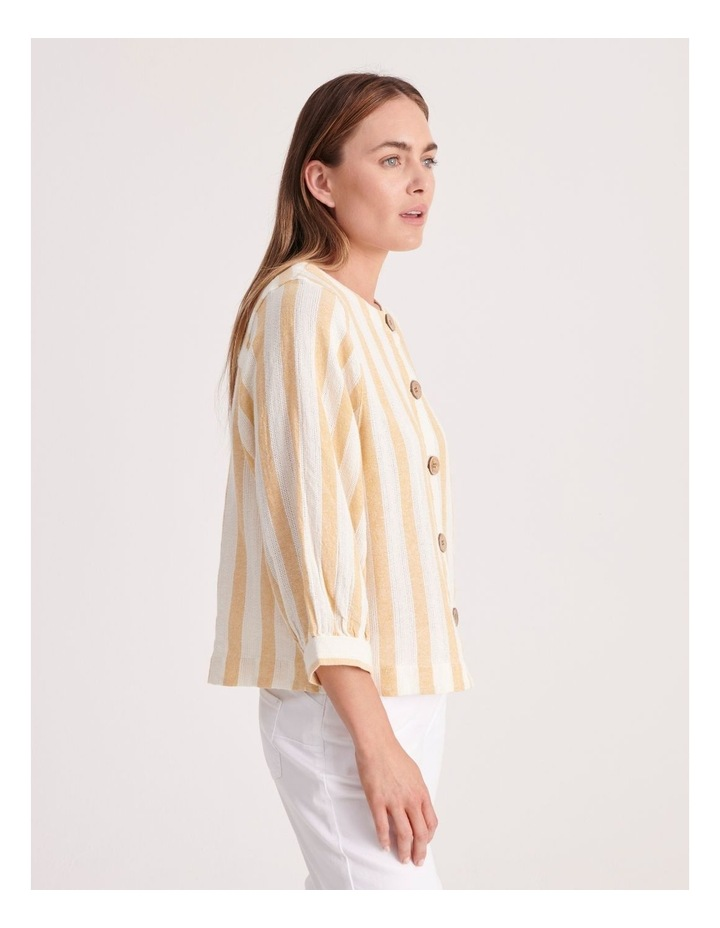 Round Neck Puff Sleeve Shirt image 3