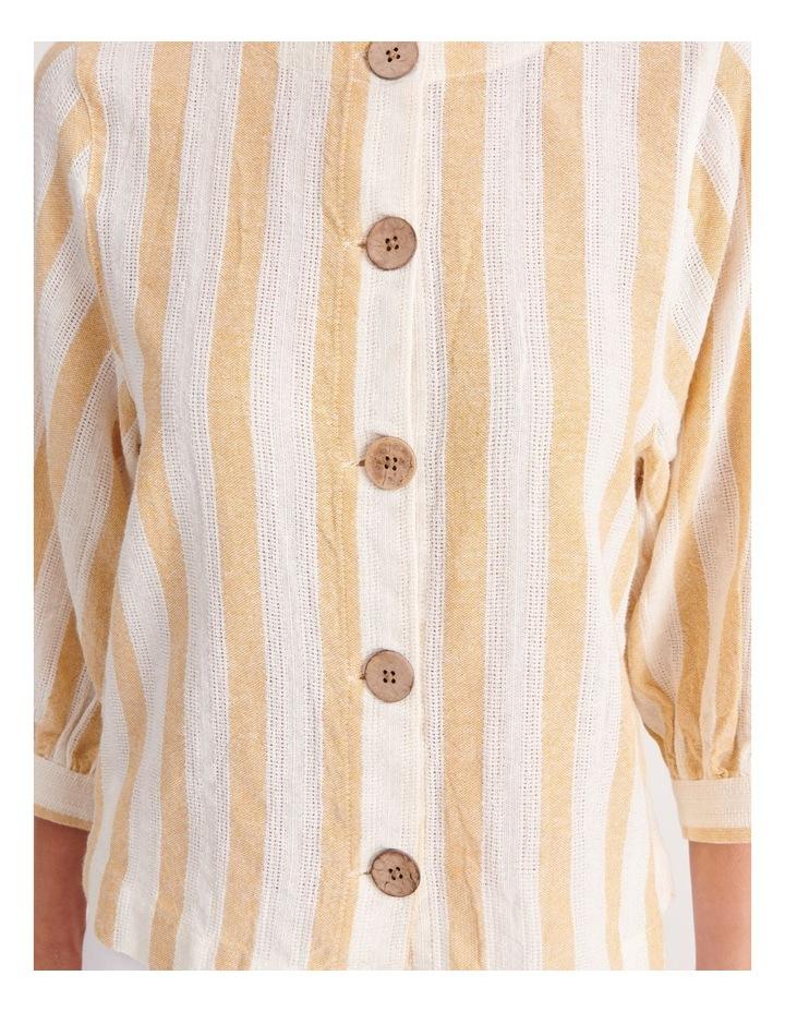 Round Neck Puff Sleeve Shirt image 5