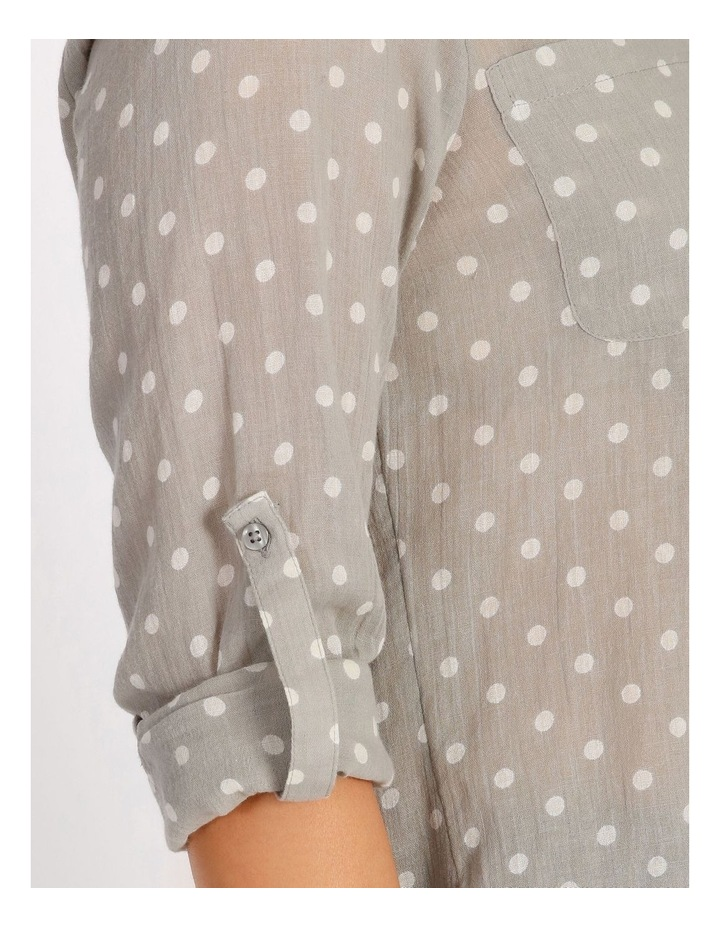 Rolled Long Shirt With Front Tucks image 4