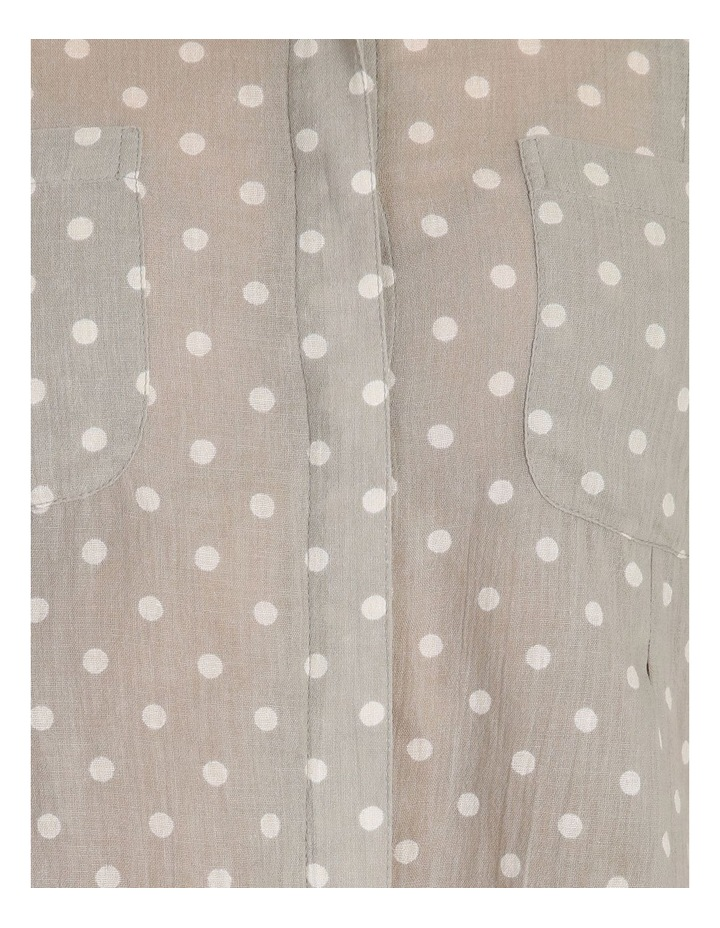 Rolled Long Shirt With Front Tucks image 5