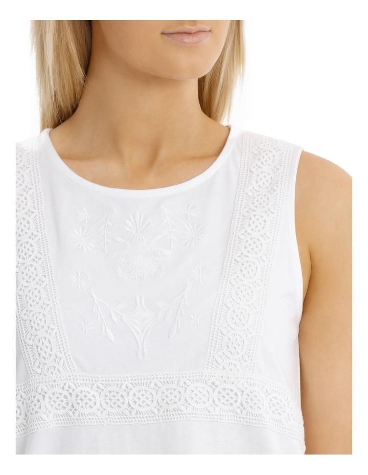 Tonal Embroidered Sleeveless Singlet image 4