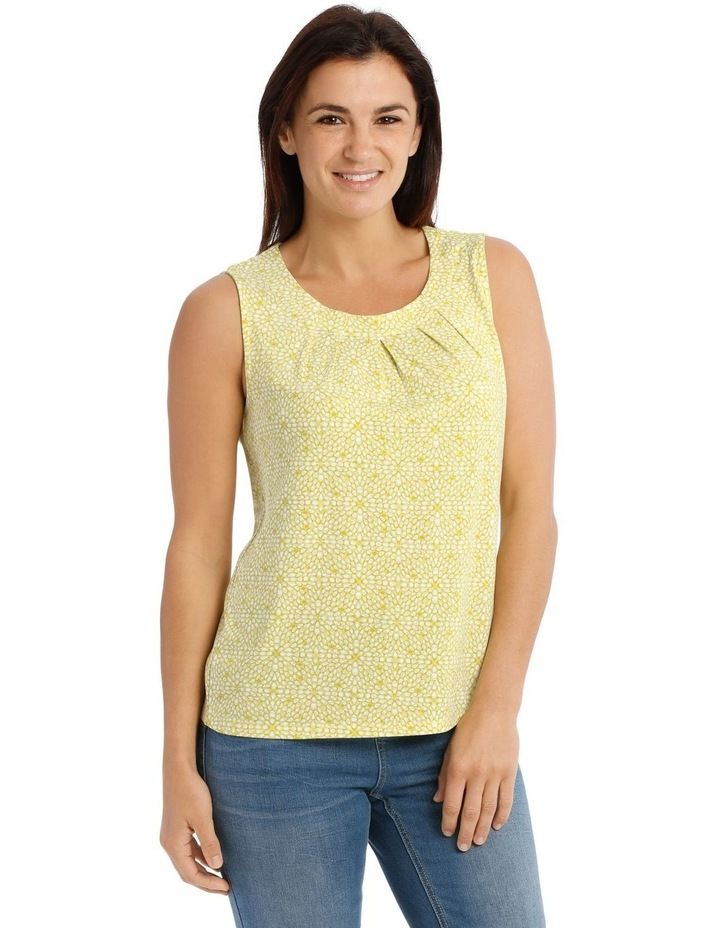 Round Neck Pleat Front Sleeveless Knit Top image 1