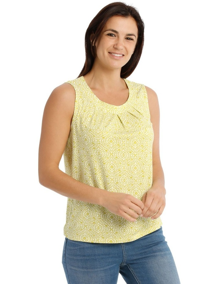 Round Neck Pleat Front Sleeveless Knit Top image 2