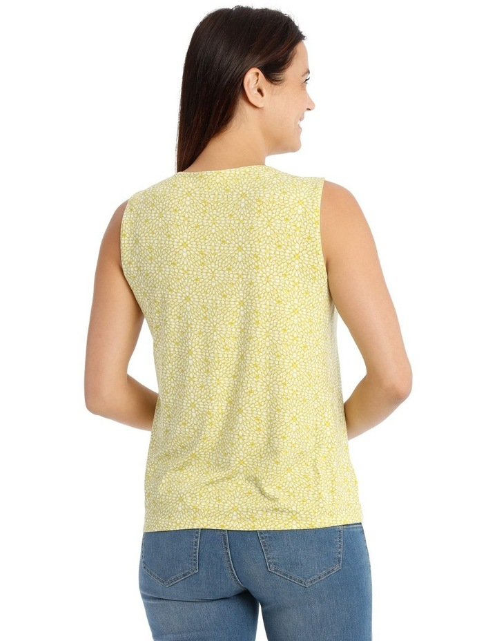 Round Neck Pleat Front Sleeveless Knit Top image 3