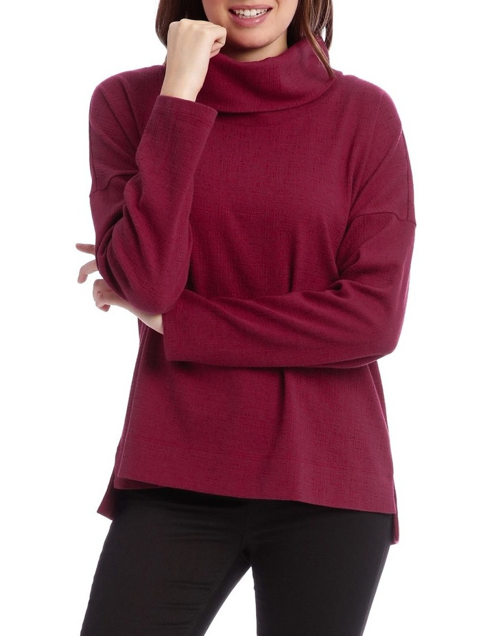 Cowl Neck Dropped Shoulder Sweat Top image 1