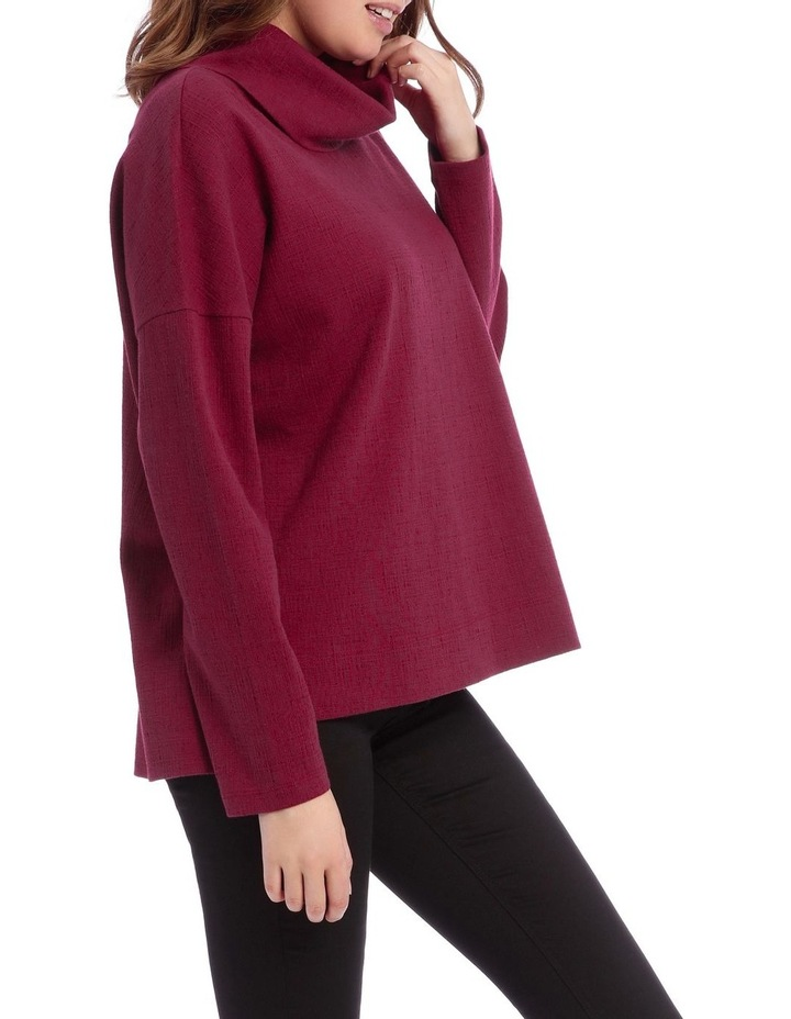 Cowl Neck Dropped Shoulder Sweat Top image 2
