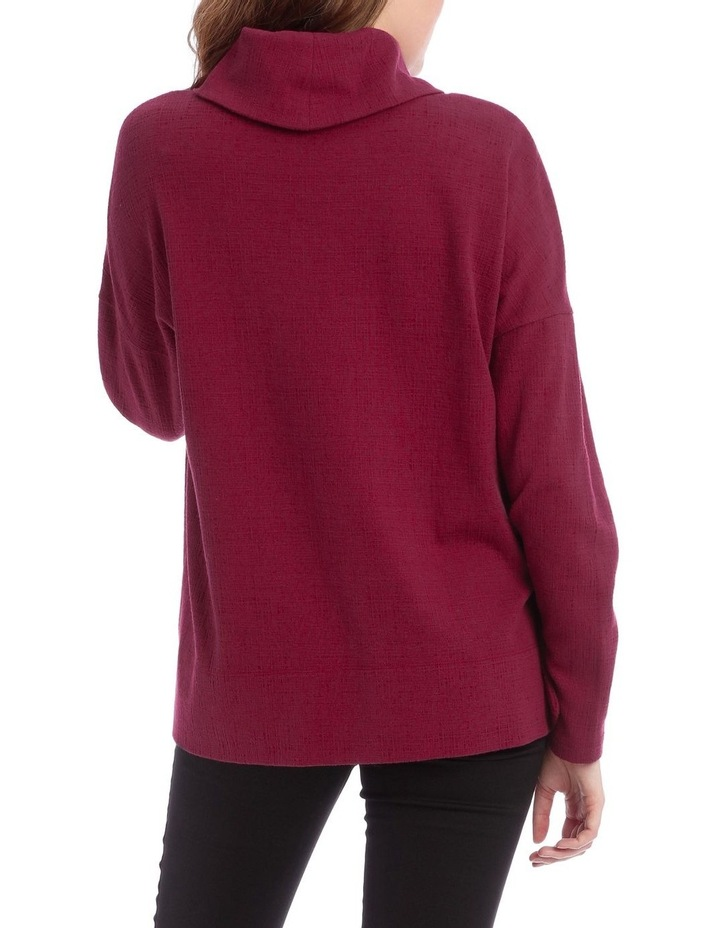Cowl Neck Dropped Shoulder Sweat Top image 3