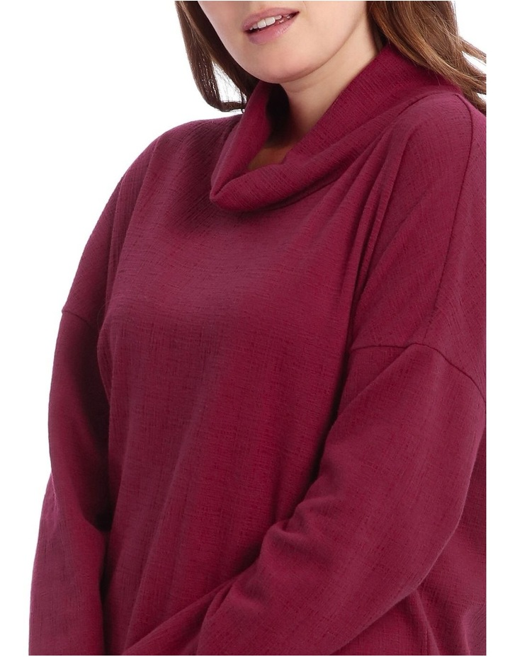 Cowl Neck Dropped Shoulder Sweat Top image 4