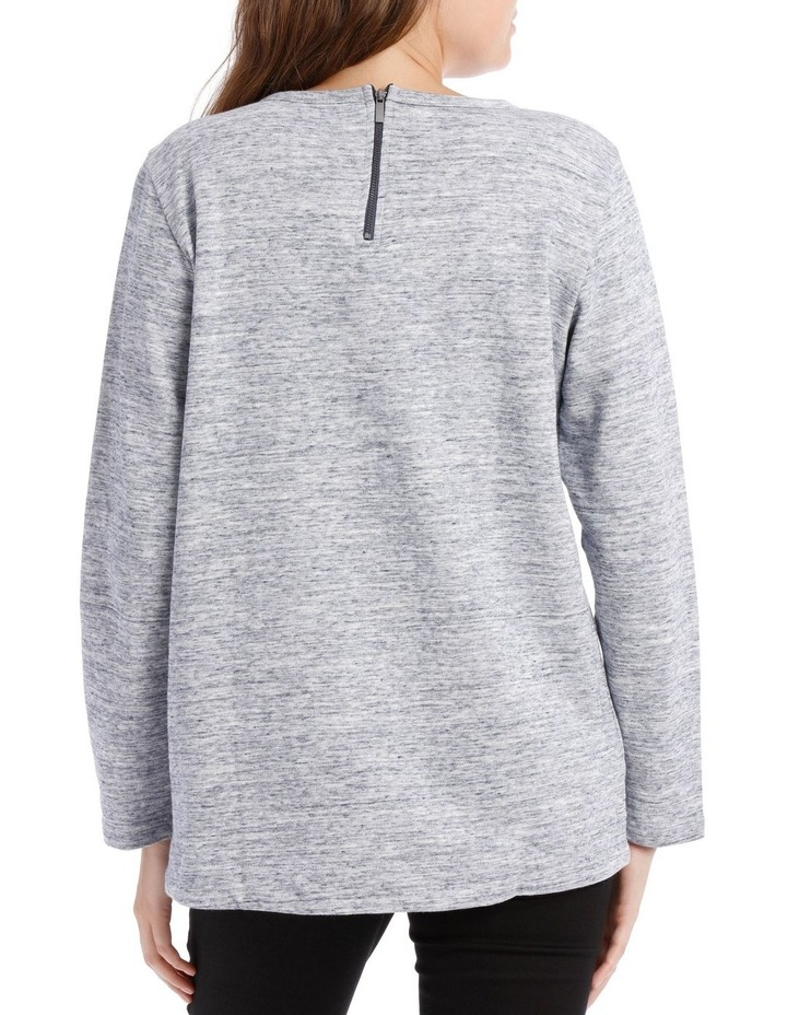 Crew Neck Long Sleeve Sweat With Straight Front Hem Hi/Lo image 3