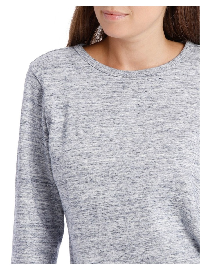 Crew Neck Long Sleeve Sweat With Straight Front Hem Hi/Lo image 4