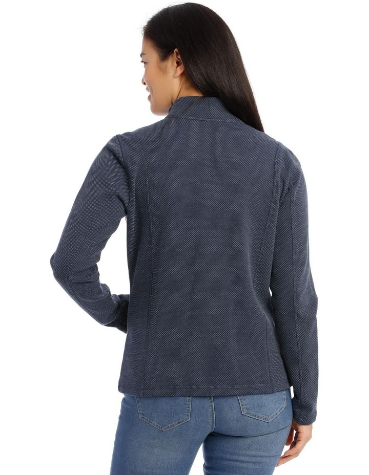 Zip Thru Stand Collar Sweat image 3