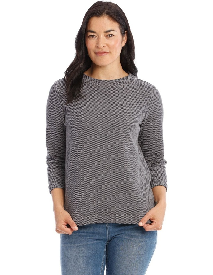 Textured Funnel Neck Long Sleeve Sweat image 1