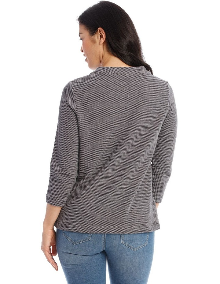 Textured Funnel Neck Long Sleeve Sweat image 3