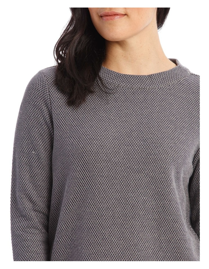 Textured Funnel Neck Long Sleeve Sweat image 4