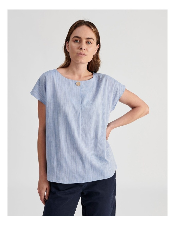 Extended Sleeve Button Neck Top image 1