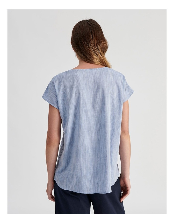 Extended Sleeve Button Neck Top image 4