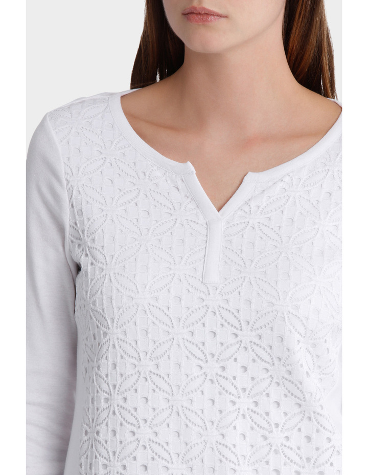 Lace Front 3/4 Sleeve Tee image 4