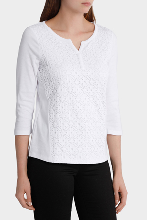 Regatta - Lace Front 3/4 Sleeve Tee