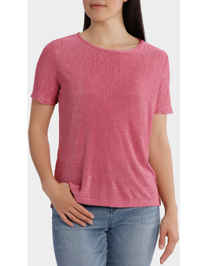 Textured Stretch Short Sleeve Tee image 1
