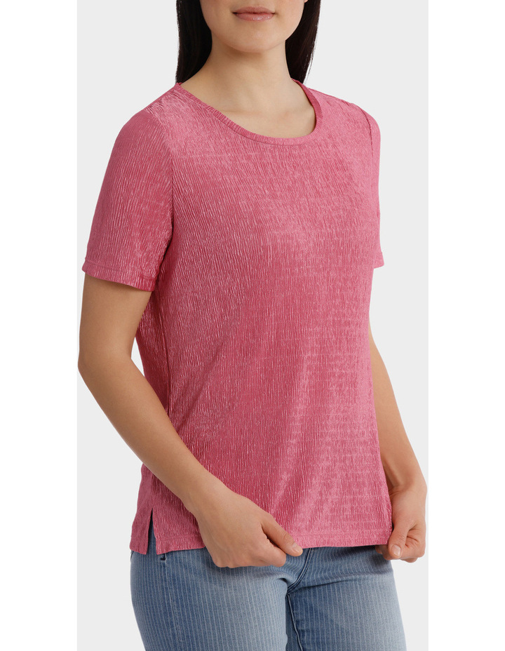 Textured Stretch Short Sleeve Tee image 2