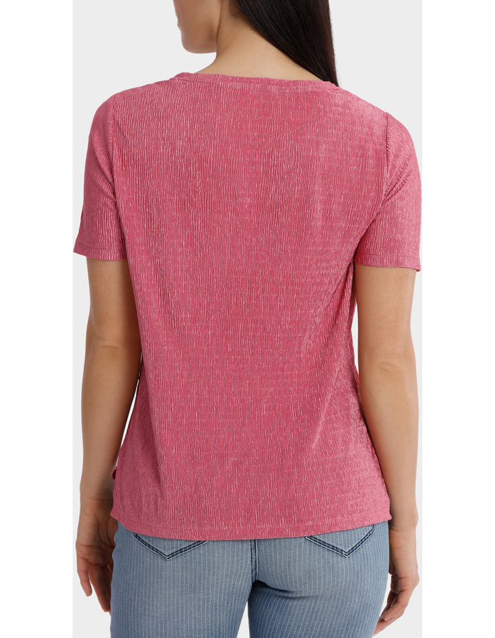Textured Stretch Short Sleeve Tee image 3