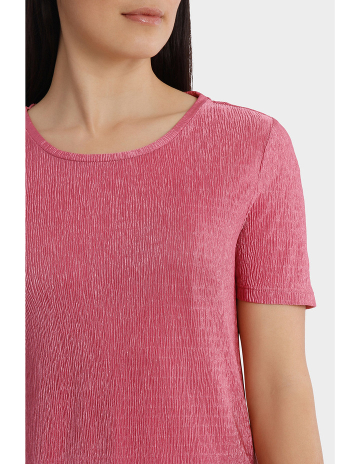 Textured Stretch Short Sleeve Tee image 4