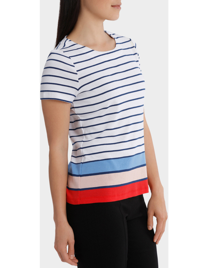 Multi Colour Stripe Short Sleeve Tee image 2
