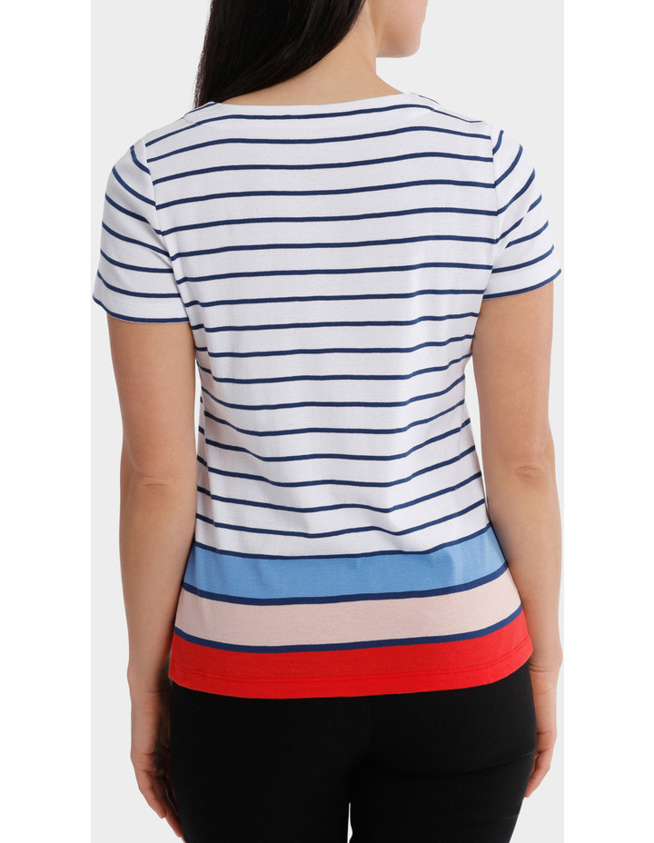 Multi Colour Stripe Short Sleeve Tee image 3