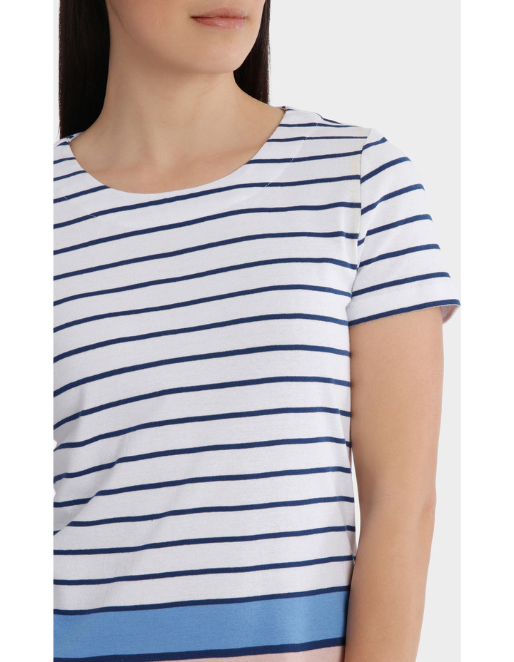Multi Colour Stripe Short Sleeve Tee image 4