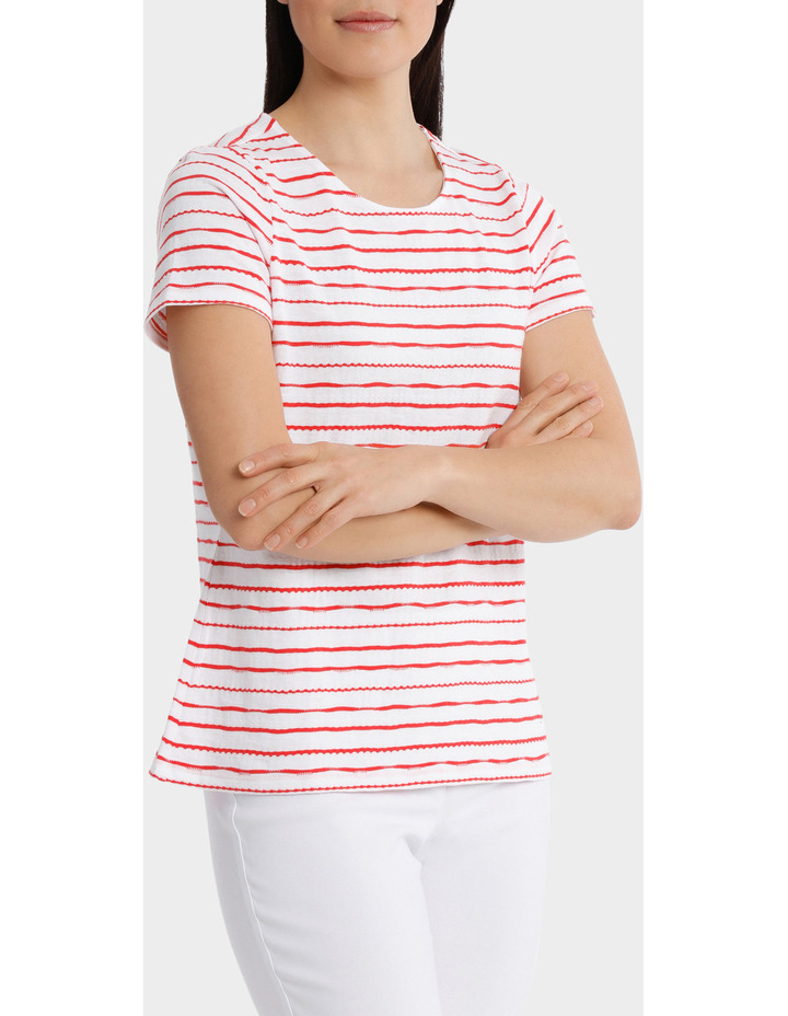Textured Stripe Short Sleeve Tee image 2