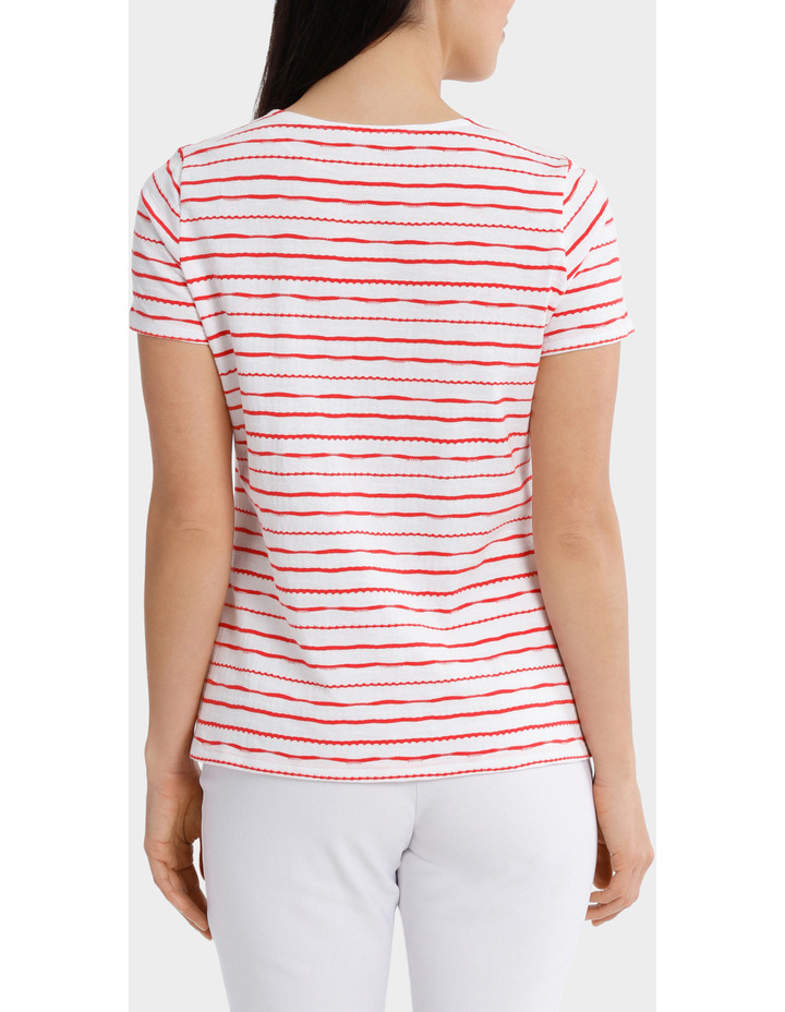 Textured Stripe Short Sleeve Tee image 3