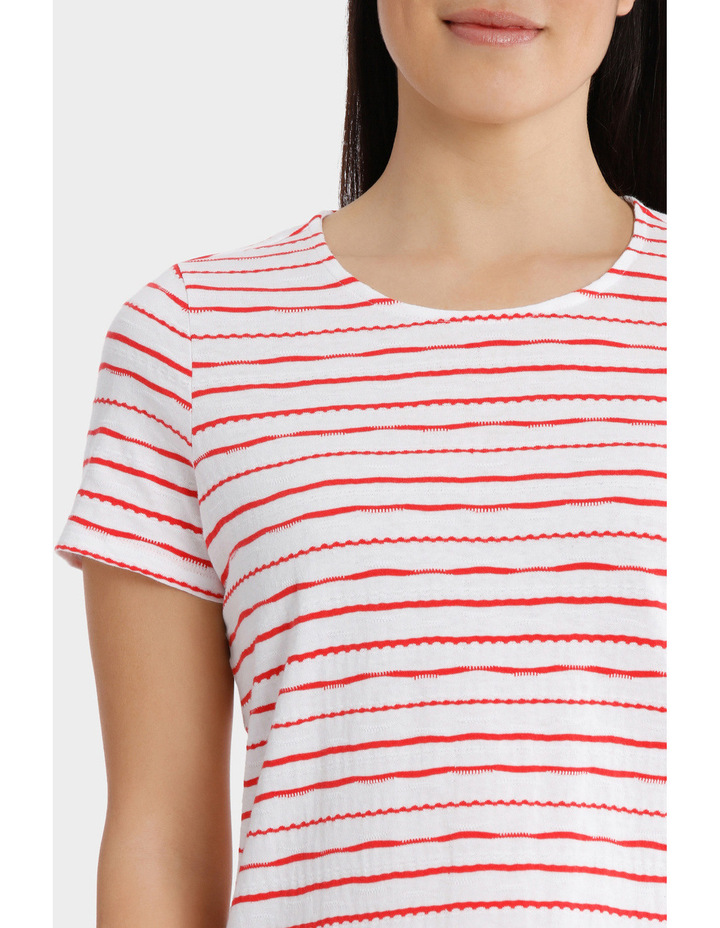 Textured Stripe Short Sleeve Tee image 4