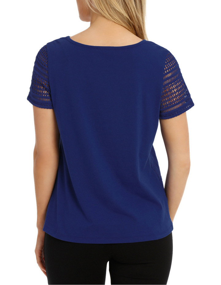 Woven Front Short Sleeve Tee image 3
