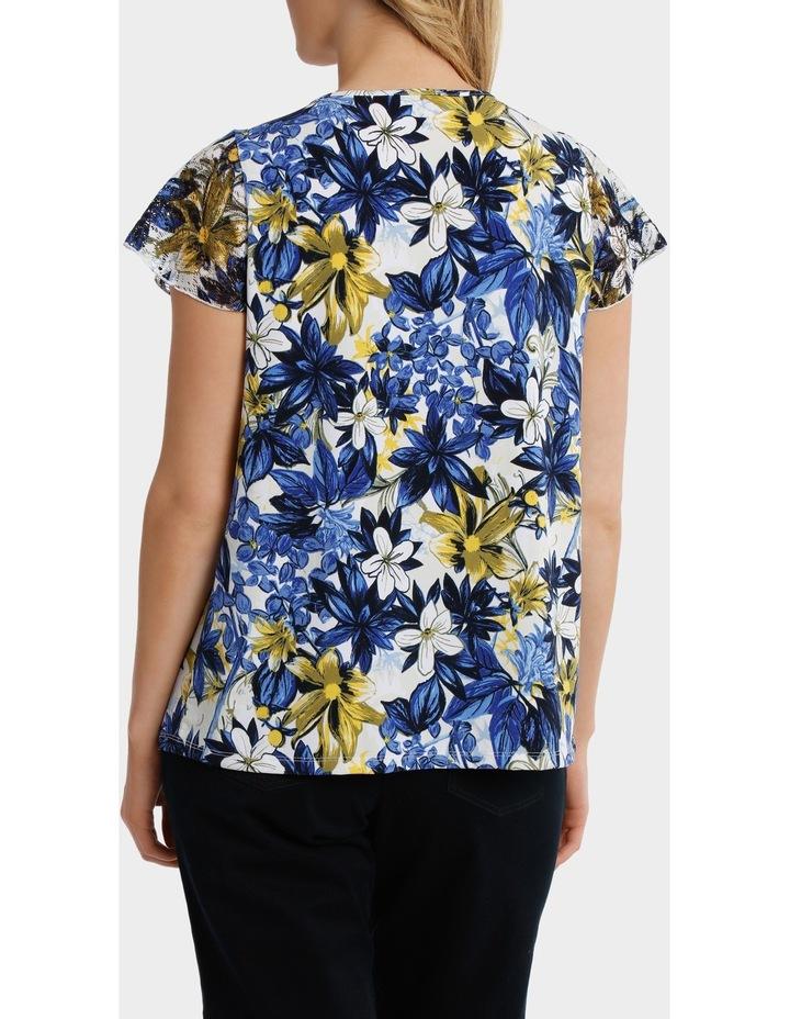 Capri Floral Asymmetrical Hem Short Sleeve Tee image 3