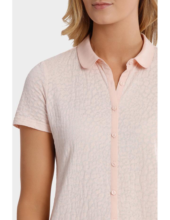 Textured Collar Short Sleeve Tee image 4