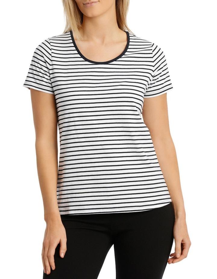 Essential Cotton Stripe S/Slv Tee image 1