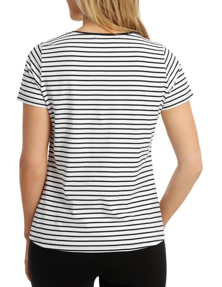 Essential Cotton Stripe S/Slv Tee image 3