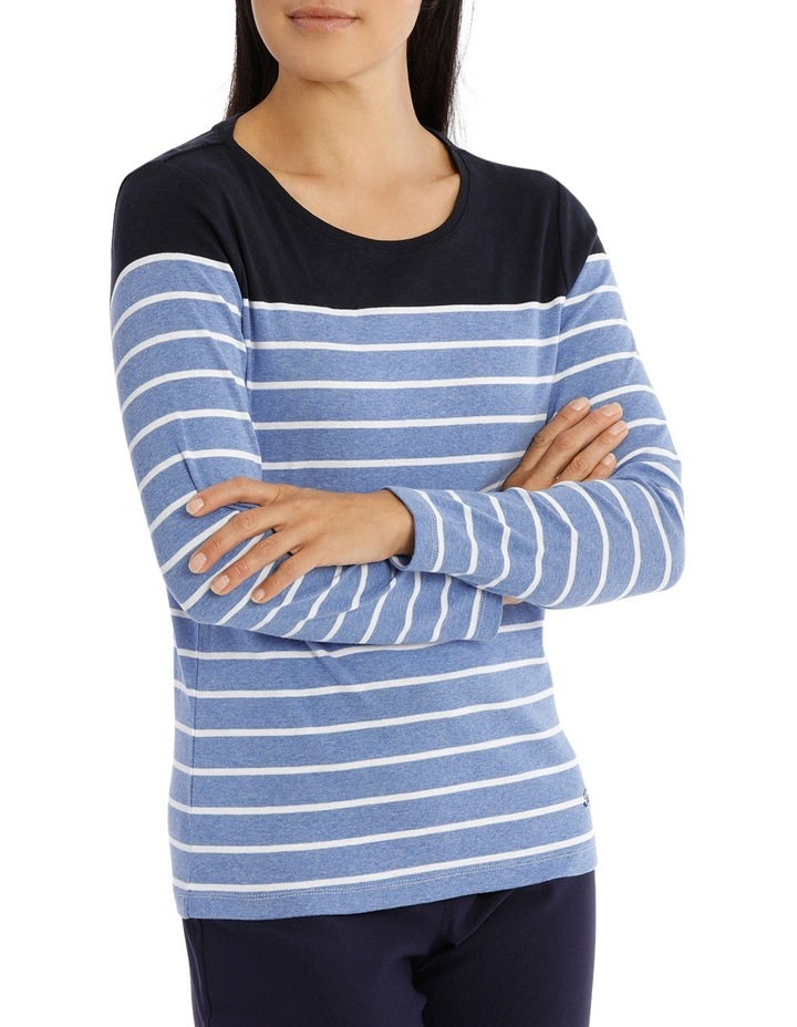 Multi Stripe 3/4 Sleeve Tee image 2