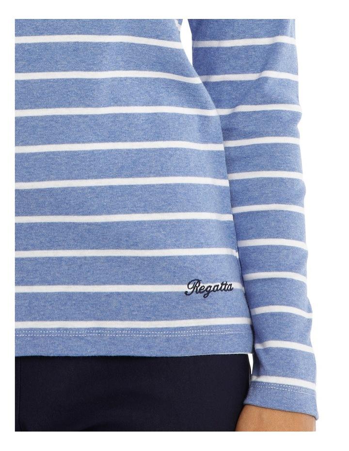 Multi Stripe 3/4 Sleeve Tee image 4