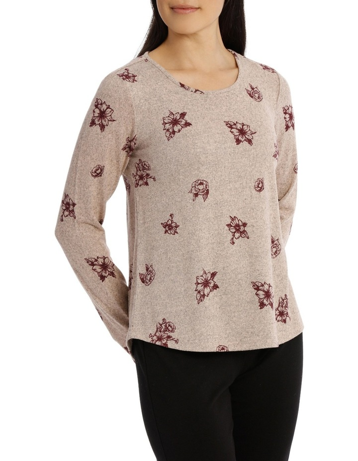 Tonal Floral Soft Touch Long Sleeve Tee image 2