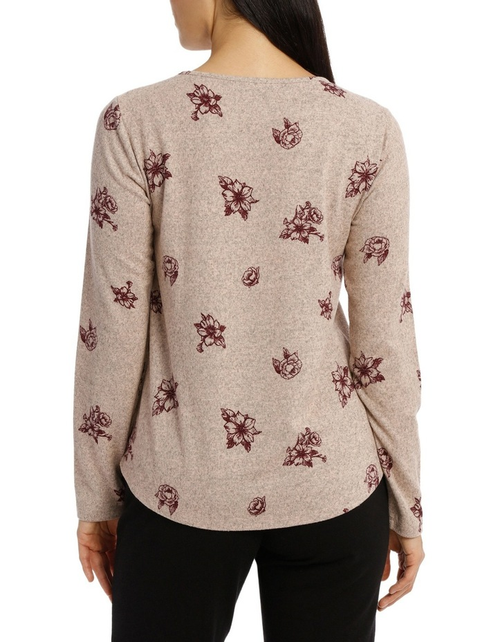 Tonal Floral Soft Touch Long Sleeve Tee image 3
