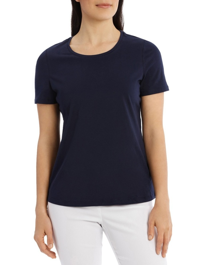 Essential Short Sleeve Tee Solid Navy image 1